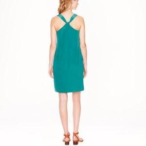 NWT J Crew Factory Emerald Twisted Back Dress